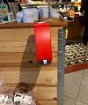 Roter automat zum Ziehen einer Nummer