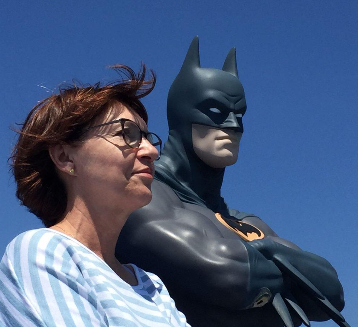 Sonja und Batman auf der Fähre nach Elba