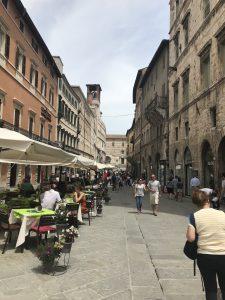 Verkehrsberuhigtes Perugia, Italien