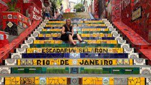 Marion in Rio de Janeiro an Anfang ihrer Zeit als Digitale Nomadin