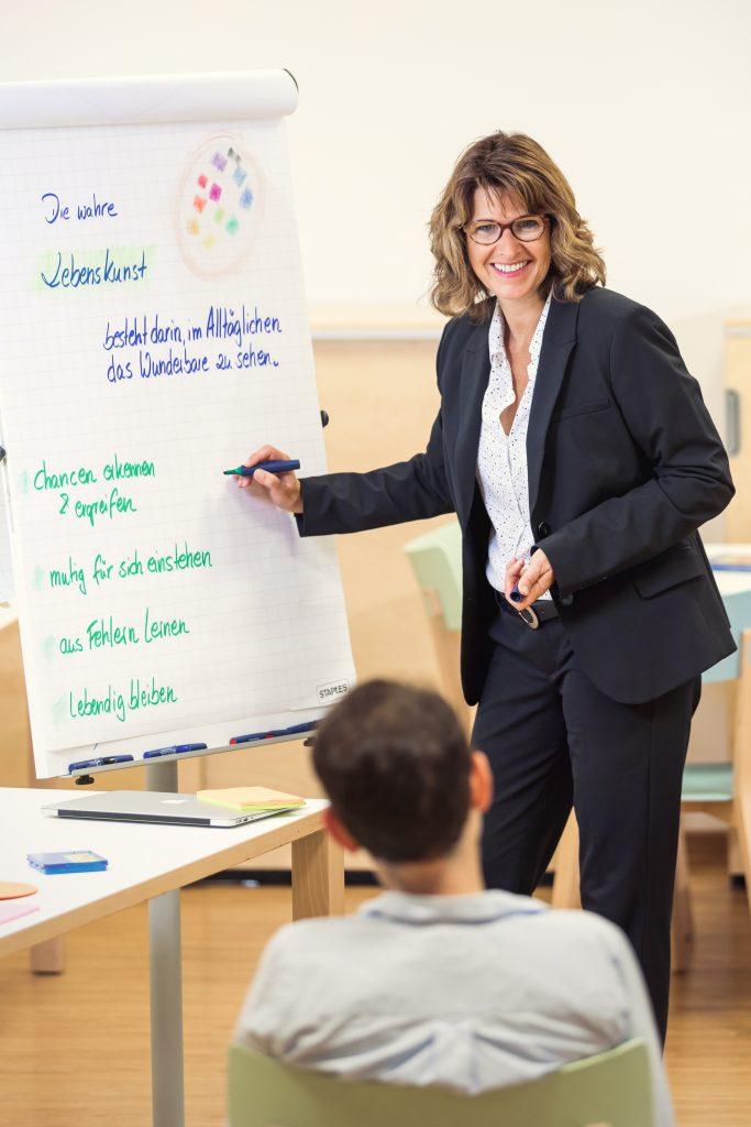 Nicole Reimer beim Coaching