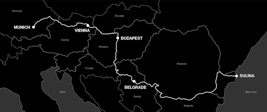 Die Route München bis ans schwarze Meer