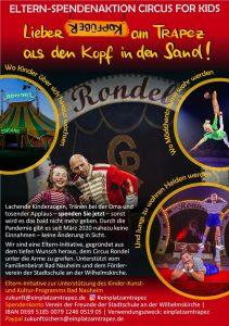 Flyer für den Circus for kids