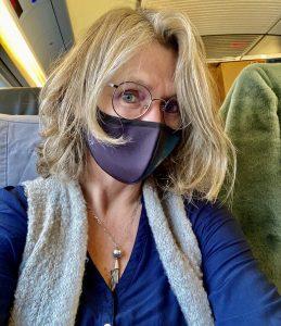 Elke Tonscheidt mit Maske