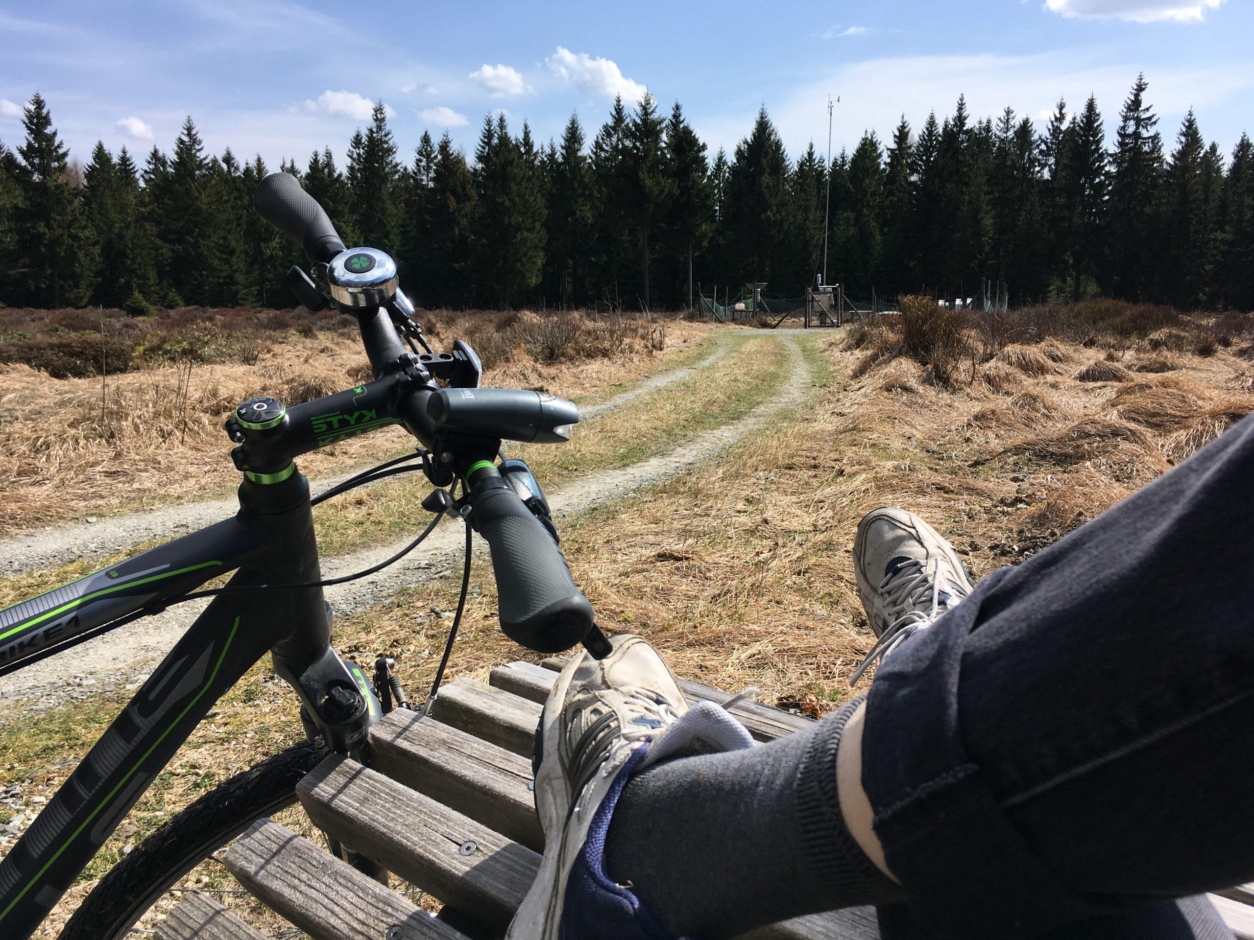 Mir dem Fahrrad im Fichtelgebirge